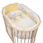 Комплект для овальной кроватки Pituso Маленькое королевство 6 предметов МГК612 цвет: голубой
