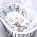 Комплект в кроватку Евротек, Baby girl, 6 предметов, 40068