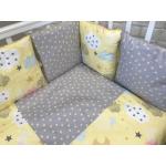 Комплект в кроватку Евротек,Cloud 6 предметов, 42016 цвет: желтый