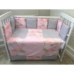 Комплект в кроватку Евротек,Cloud 6 предметов, 42017 цвет: розовый