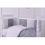 Комплект в кроватку Евротек, Дамаск, 6 предметов, 38751 цвет: серый