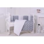 Комплект в кроватку Евротек, Дамаск, 7 предметов, 38751 цвет: серый