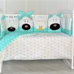 Бортик в кроватку Евротек Игрушки 12 подушек 32054 цвет: зелёный