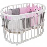 Комплект в кроватку Евротек, Лесные жители, 10 предметов, 35345 цвет: розовый
