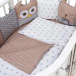 Комплект в кроватку Евротек, Лесные жители, 3 предмета, 60041 цвет: кофейный