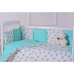Комплект в кроватку Евротек, Мороженое, 7 предметов, 60084 цвет: зеленый