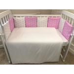 Бортик в кроватку Евротек Звезды 12 подушек 49705 цвет: розовый