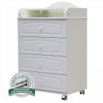 Пеленальный комод Топотушки Ричард 60/4 МДФ цвет: белый