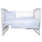 Комплект в кроватку Бабочки 3 предмета 10043 цвет: зеленый