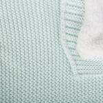 Плед вязаный Baby Edel Объёмный на подкладе 23150 цвет: бирюзовый