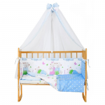 Комплект в кроватку Эдельвейс Сладких снов 7 предметов 10739 цвет: голубой