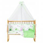 Комплект в кроватку Эдельвейс Сладких снов 7 предметов 10739 цвет: зеленый