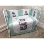 Комплект в кроватку Евротек, Панно Милый мишка, 6 предметов,  40071 цвет: мятный