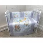 Комплект в кроватку Евротек, Панно Слоник на облачке, 6 предметов,  40078