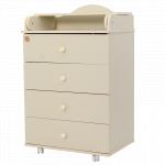 Пеленальный комод 4 ящика Топотушки Фортуна ЛДСП 600/4 цвет: слоновая кость