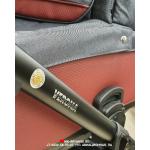 Коляска 2 в 1 Adamex Verona VR207 цвет: графит/бордовый