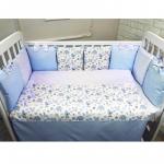 Комплект в кроватку Евротек, Baby Elefant 6 предметов, 42011 цвет: голубой