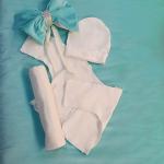 Конверт-одеяло на выписку 7 предметов Кристалл цвет: голубой
