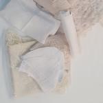 Конверт-одеяло на выписку 9 предметов, кружево, цвет: бежевый