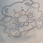 Конверт-одеяло на выписку Мишка с бантом цвет: белый