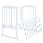 Кроватка-качалка Malika Lilu-2 цвет: белый