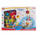 Карусель-мобиль на батарейках PlaySmart Активный малыш, пульт ДУ, свет, звук JB0333623