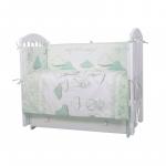 Комплект в кроватку Топотушки Амурчики 6 предметов 609/2 цвет: мятный