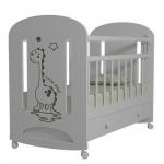 Кроватка-качалка+ящик ВДК Dino цвет: белый