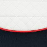 Коляска 2 в 1 Adamex Avanti Deluxe X8 цвет: синий/белая кожа