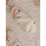 Конверт вязаный Babyedel Кокон для новорожденного 12458 цвет: бежевый