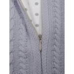 Конверт вязаный Babyedel Кокон для новорожденного 12458 цвет: серый