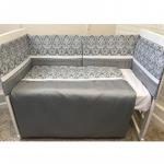 Комплект в кроватку Евротек, Domasco 6 предметов, 42033 цвет: серый