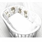 Комплект в кроватку Евротек, Енот принц, 6 предметов, 80232