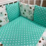 Комплект в кроватку Евротек, Коалы, 6 предметов, 80171 цвет: зеленый
