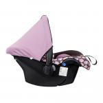 Автокресло Kids Planet Luna группа 0+ (0-13 кг) цвет: розовые совы 101626