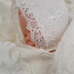 Конверт-одеяло на выписку Лион цвет: белый/голубой/люрекс