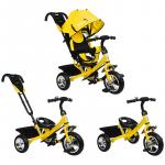 Велосипед трёхколёсный Micio Classic, колёса EVA 10/8, цвет: желтый