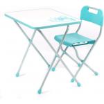Комплект детской складной мебели Nika Kids Ретро КПР/2 цвет: бирюзовый