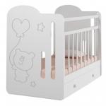 Кроватка-маятник+ящик ВДК Sweet Bear цвет: белый