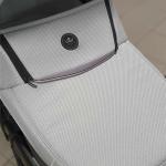 Коляска 2 в 1 Adamex Cortina, CT-240 цвет: кожа графит/сиреневый/меланж