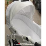 Коляска 2 в 1 Adamex Barletta Carbon 10S цвет: белая кожа