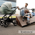 Коляска 2 в 1 Bexa Ideal ID 03 цвет: шалфей/шалфей кожа