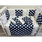 Комплект в кроватку Евротек, Белый медведь, 6 предметов, 80267 цвет: синий