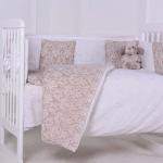Комплект в кроватку Евротек, Дамаск, 3 предмета, 60129 цвет: бежевый