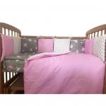 Комплект в кроватку Евротек, Маленькая балеринка, 3 предмета, 60066 цвет: розовый