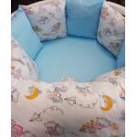 Комплект в кроватку Funny baby, Игрушки.Мышки на облачках, 6 предметов, цвет: голубой