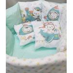 Комплект в кроватку Funny baby, Радуга.Мишкины мечты, 6 предметов