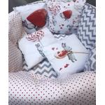 Комплект в кроватку Funny baby, Радуга.Сладкий зайка, 6 предметов