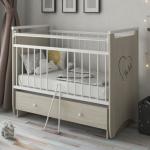 Кроватка-маятник+ящик Malika Gerda цвет: шимо светлый/белый