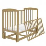 Кроватка-маятник Malika Lilu-3 цвет: натуральный